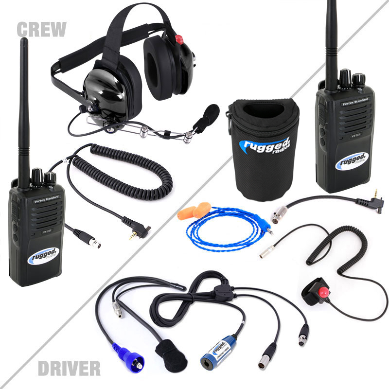H42 Black 2 Way Radio Headset H42 Blk: Offroad Short Course System With Vertex VX261 UHF Radios