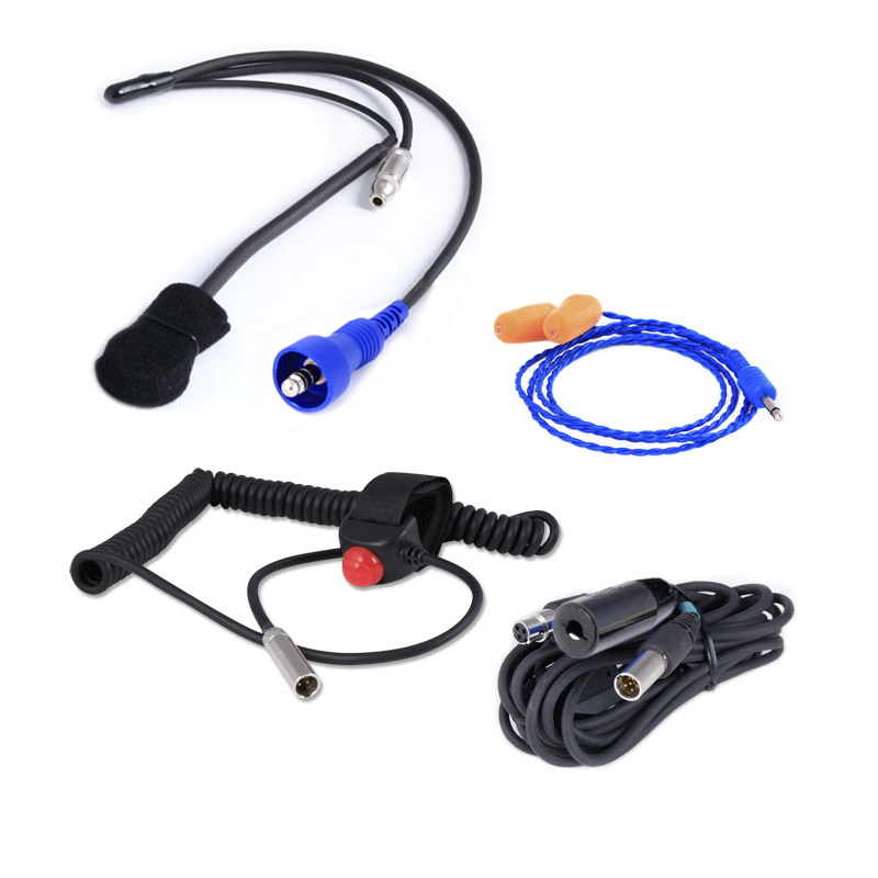 H42 Black 2 Way Radio Headset H42 Blk: VHF HX400 5-Watt Radio And Headset Crew Chief/Spotter